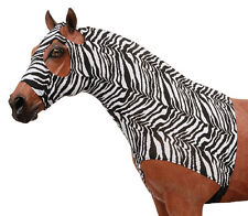 L  Zebra lycra mane stay/sleezy hood w/zipper Tough 1