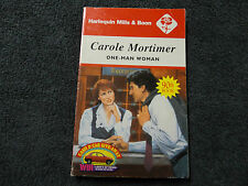 ONE-MAN WOMAN  BY  CAROLE MORTIMER  ( MILLS & BOON - VINTAGE )