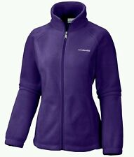 COLUMBIA Benton Springs Full-Zip Fleece Jacket Women Size XL Hyper Purple NWT