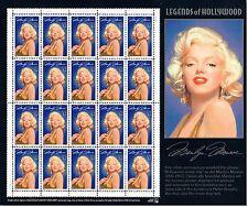 Marilyn Monroe, Legends of Hollywood,Briefmarkenkleinbogen USA postfrisch 917371