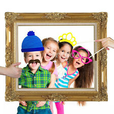 24X Faces Photo Props Booth & Large Picture Frame Photography Party Fun Favors