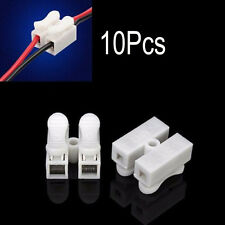 REUSABLE 10Pcs 2 Way LED Ceiling Quick Fix Spring Clamp Terminal Block Connector