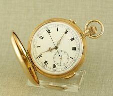 Museum GOLD ¼ Repetition Chronograph Taschenuhr Uhr repeater watch Schlagwerk
