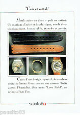 PUBLICITE ADVERTISING 046  1988  la montre Swatch  cuir & Métal