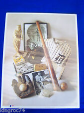 "NEW -1993 Print-Detroit Tigers' ""Ty COBB Compilation"" w/ all his baseball awards"