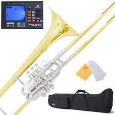 "New Mendini ""Super-Bone"" Valve / Slide B Flat Trombone w/ Monel Piston +$39Tuner"