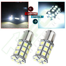 2X High Power 1156 BA15S P21W White 27-SMD LED Car Backup Bulb Reverse Light