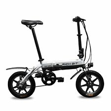 "RT618 White Updated Folding Bike 14"" Ebike Electric Bicycle 250W Folding Bicycle"