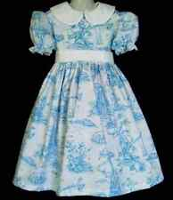 NEW Handmade Disney Winnie the Pooh Blue Toile Deluxe Dress Custom Sz 12M-12Yrs