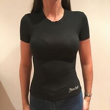 Miss Sixty Black T Shirt Stretchy Top With Emblem On Front Size XS