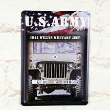 US Army Military Jeep Poster Tin Antique Metal Signs Home Pub Bar Wall Decor