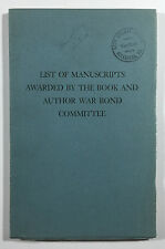 List of Manuscripts Awarded By The Book & Author War Bond Committee, Bailey 1946