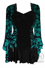Womens Plus Size Gothic BOLERO Corset Top GREEN IVY 4X