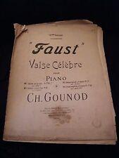 Partition Faust Valse pour Piano Gounod Music Sheet