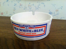 NOS FROM OPEN CASE RED WHITE & BLUE BEER  ORNAMIN ASHTRAY  FREE US SHIPPING!!!
