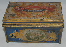 RARE ANTIQUE PAINTED TINWARE TOLEWARE VALUABLES JEWELRY BOX CABINET CAMBRIDGE