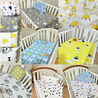 Baby Kid Crib Fitted sheets Soft Cotton Comfort Cartoon Printed Cot Bed Sheet