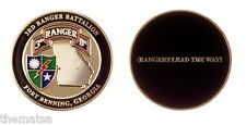 """ARMY RANGERS LEAD THE WAY FORT BENNING 3RD RANGER BATTALION 1.75"""" CHALLENGE COIN"""