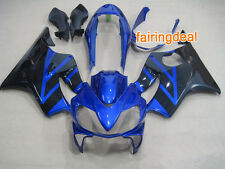 Injection Blue Black ABS Fairing for Honda 2004-2007 CBR600 F4I 2005 2006 e13