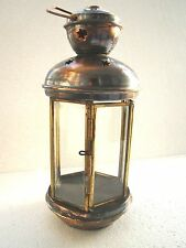 Traditional Handmade Copper Turkish Ottoman Authentique Candle Lantern / Lamp