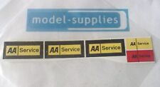 """Dinky 412 Bedford CF """"AA service"""" reproduction sticker set"""