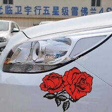 Red roses Cover scratches bumper rear Glass truck jeep car stickers Wall Decals