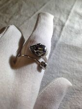 Vintage Size 6 925 Sterling Silver Scull Thumb Ring