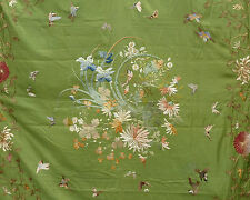 Large Antique Chinese Embroidered Silk Wall Hanging Fine Embroidery NO RESERVE