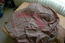 KASHMIR HAND EMBROIDERED SHAWL 100% CASHMERE NEEDLE WORK