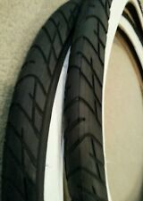 2NEW DURO  BICYCLE TIRES,26X2.125, STREET SLICK TREAD CLEAN  WHITEWALLS