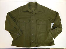 Vtg 50's US GREEN Army Military NAVY Korea War FIELD COMBAT Wool HUNTING Shirt L