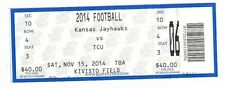2014 KANSAS JAYHAWKS VS TCU HORNED FROGS TICKET STUB 11/15 COLLEGE FOOTBALL
