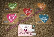 STARBUCKS GIFT CARD LOT HAPPY VALENTINE'S DAY 2017+MINI DIE CUT SET NO VALUE NEW