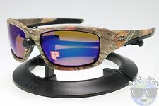 Oakley Valve Sunglasses OO9236-13 Woodland Camo w/ Shallow Blue Polarized Lenses