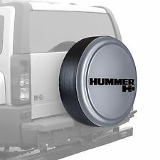 "33"" Hummer H3 Logo - Rigid Tire Cover - Painted - Silverstone"