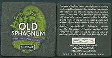 OLD SPHAGNUM BEER, ALLENDALE BREWERY U.K. BEERMAT /COASTER NEW-UNUSED -GV 251015