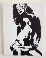 Hand Painted Erotic Art Black & White Sexy female Canvas Painting