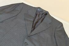 HICKEY FREEMAN Boardroom Gray Striped Suit 42 R 100% Wool