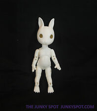 "JunkySpot Hujoo White "" NANO Rabbit ""  Version 2 Bunny 12cm ABS Anthro BJD Dol"