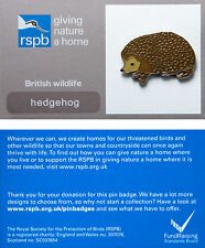 RSPB Pin Badge | Hedgehog | GNaH backing card [00261]