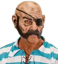 Pirate Man Fancy Dress 3/4 Face Mask with Open Mouth