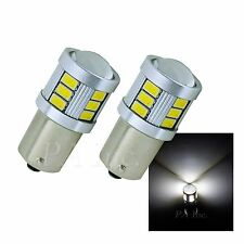 4x White 1156 Ba15s 18SMD 5630 5730 LED Tail  Light Bulb 12v TURN SIGNAL PA