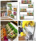 Chrome 4, 5 Tier Spice / Herb Rack Wall Mountable or Kitchen Cupboard Storage