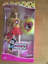 NRFB! Collector Barbie-Doll-Disney-Minnie-Mouse-With-Key-Chain-For-You-MIB!