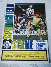 Wigan Athletic v Peterbrough United programme 19.1.82