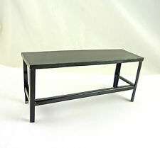 Dollhouse Miniature Black Metal Workshop Workbench Table, G8636