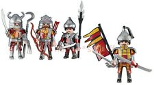 Playmobil 4 Red Dragon Knights Figures -Asian Warriors Soldier 6325 6326 Lot NEW