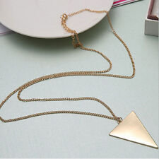 New Fashion Simple Triangle Pendant Long Costume Necklaces for Mens and Womens