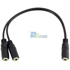 "20cm 1/8"" inch 3.5mm Female Jack to Dual 3.5mm Female Aux Audio Splitter Cable"