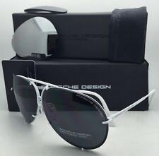 PORSCHE DESIGN Titanium Aviator Sunglasses P'8478 P 66-10 White w/ 2 Lens Sets